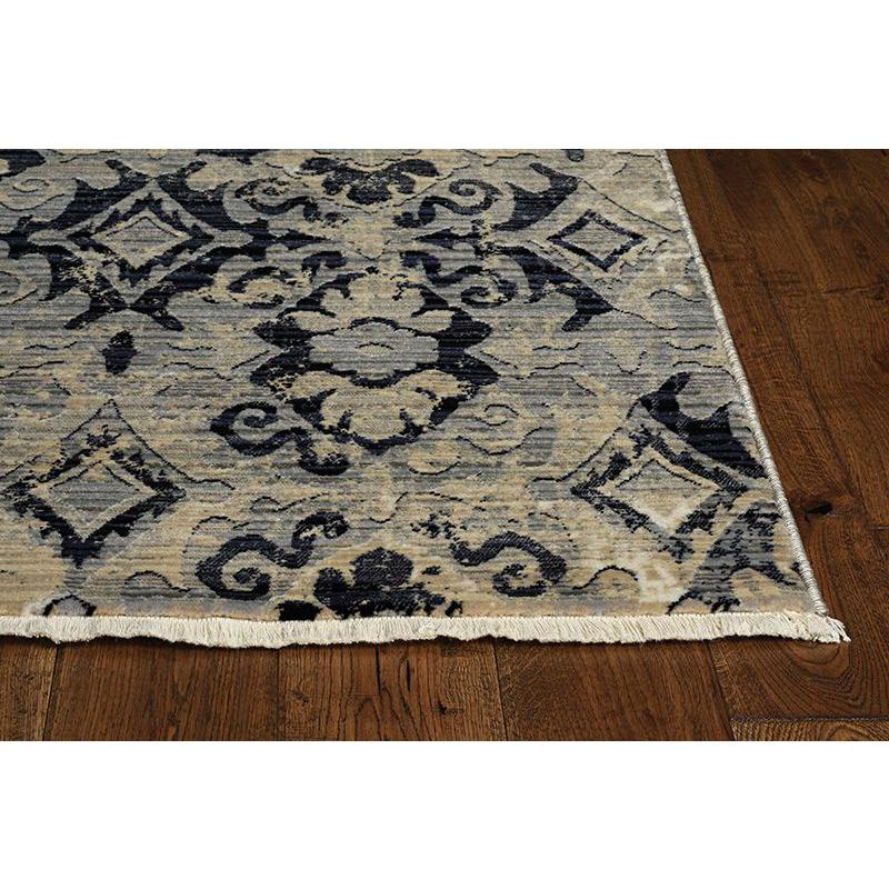 5'x8' Ivory Beige Machine Woven Distressed Traditional Indoor Area Rug - 375638. Picture 3