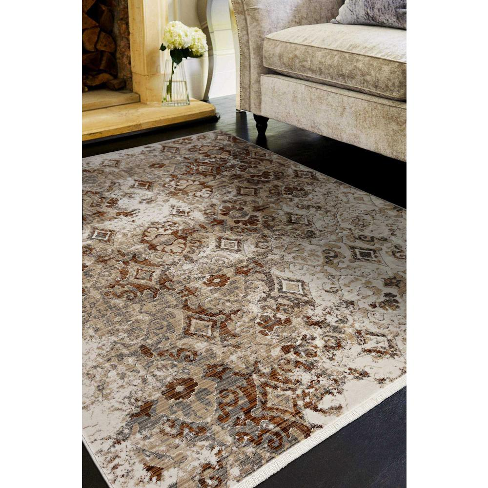 5' x 8' Sand Medallion Area Rug - 375644. Picture 1