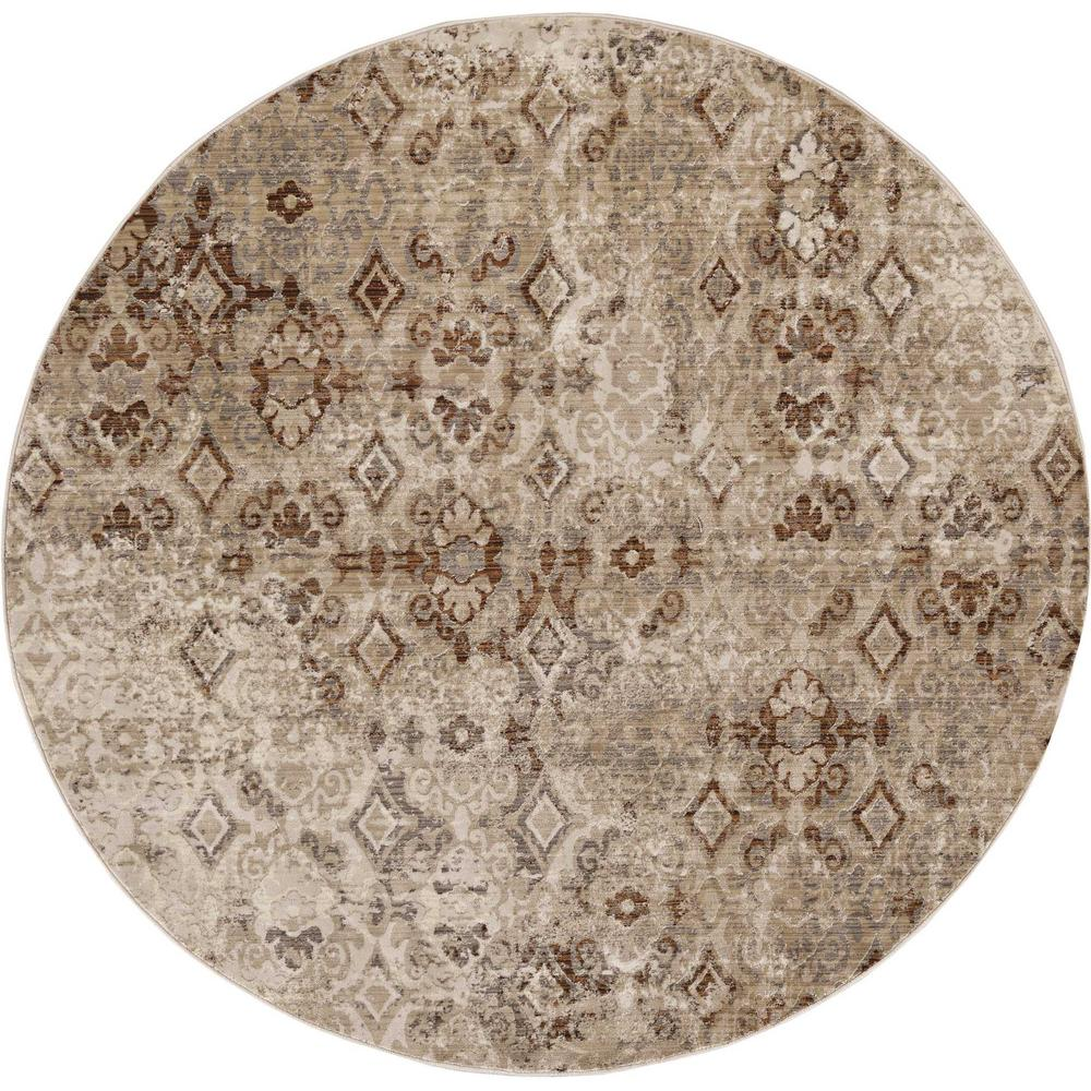 5' x 8' Sand Medallion Area Rug - 375644. Picture 2