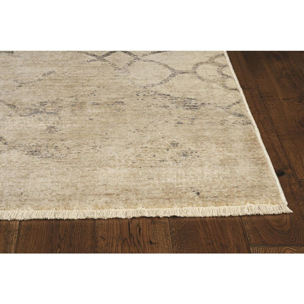 8'x10' Ivory Machine Woven Ogee Indoor Area Rug - 375652. Picture 2