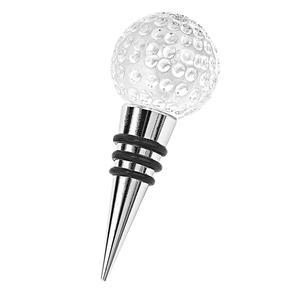Hand Crafted Crystal Golf Ball Bottle Stopper - 375771. Picture 1