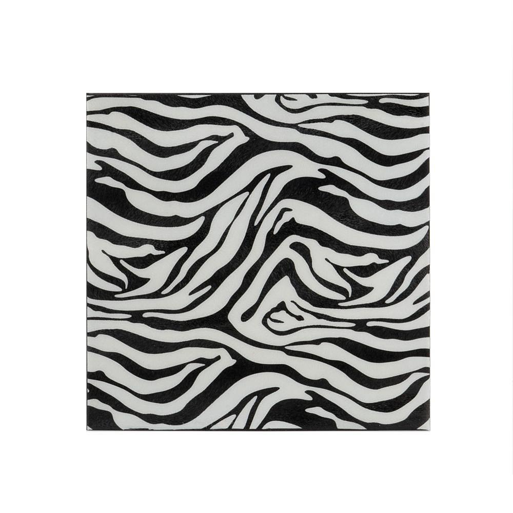 Small Iron Faux Zebra Skin Wall Tile - 375919. Picture 1
