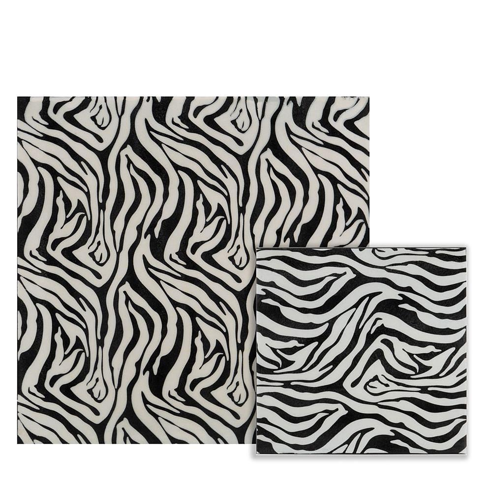 Small Iron Faux Zebra Skin Wall Tile - 375919. Picture 2