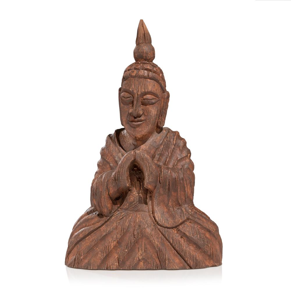 Wooden Seated Buddha Sculpture - 375924. Picture 1