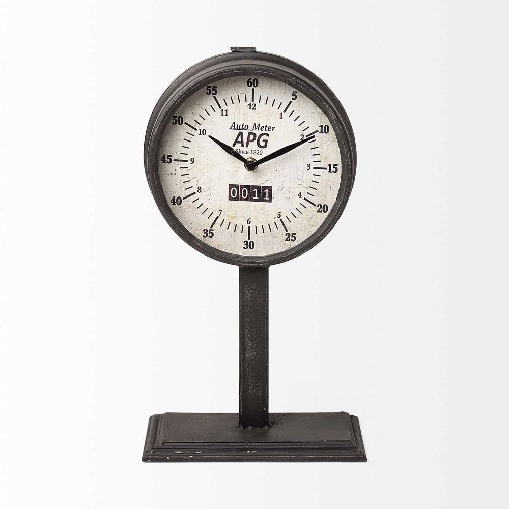 Rectangular Table Clock with automobile speedometer style - 376203. Picture 1