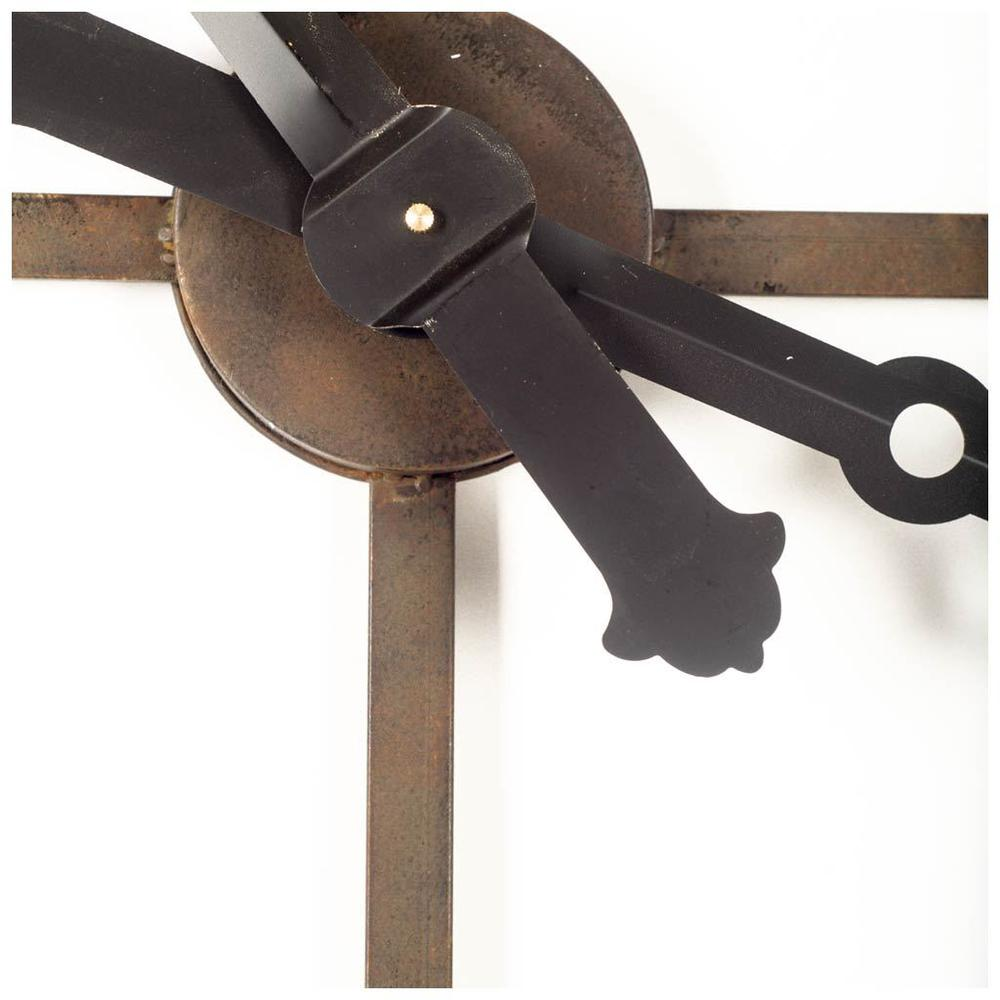 """50"""" Round XL  Industrial styleWall Clock w/ Open Back Face w/ Welded Iron Roman Numeral - 376232. Picture 1"""