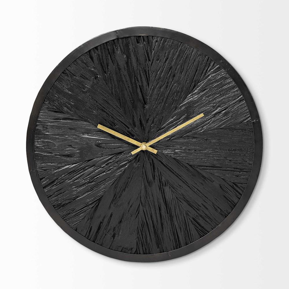 """16.5"""" Round Large Black Modern Wall Clock - 376251. Picture 1"""