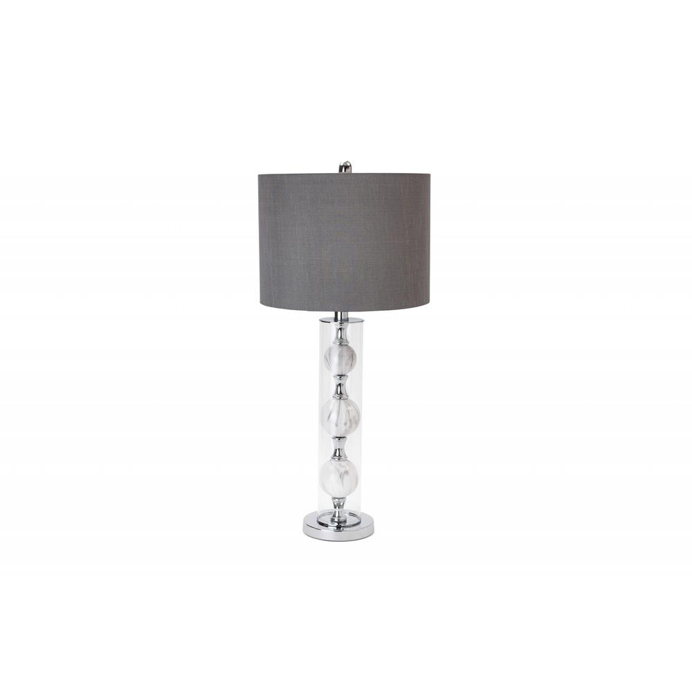 Set of 2 Metal 3-Ball Glass Table Lamp - 376262. Picture 1