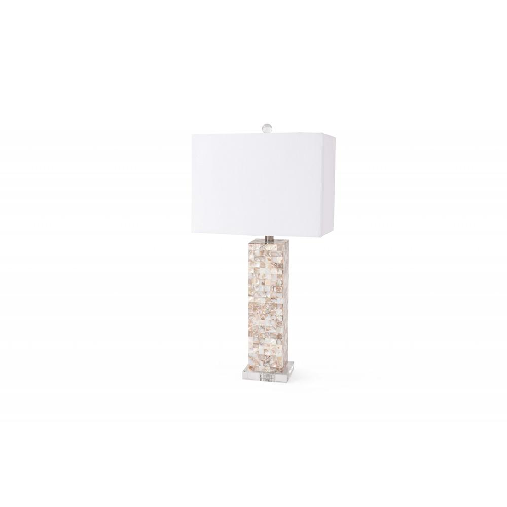 Set of 2 Mother of Pearl Coastal Table Lamps - 376264. Picture 1
