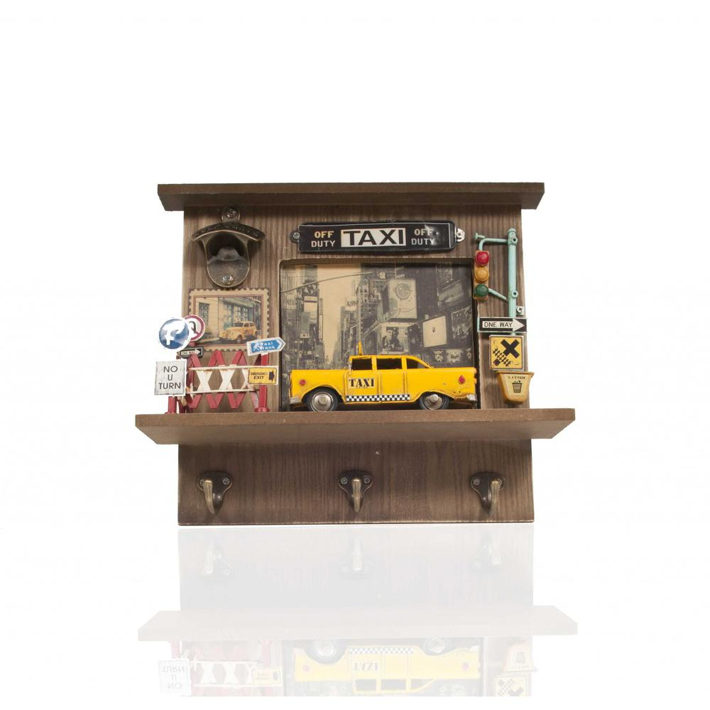 Shadow Box with 3 Metal Keychain Hooks - 376343. Picture 4