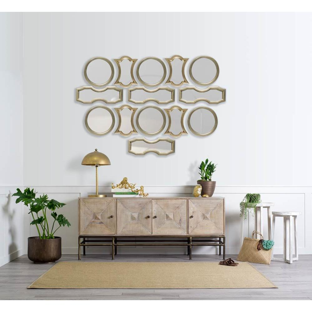 Gold Wood Frame Wall Mirror - 376383. Picture 3