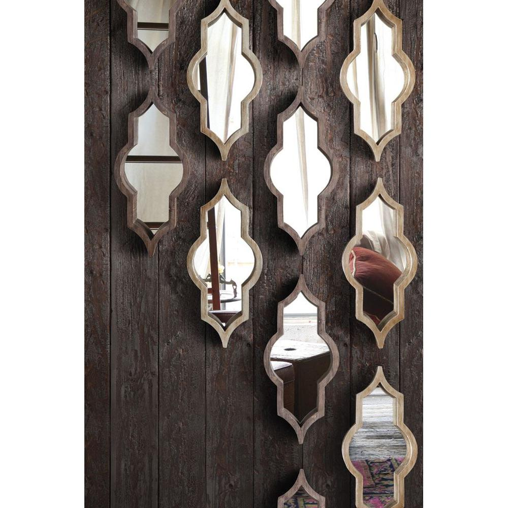 Brown Wood Frame Wall Mirror - 376390. Picture 2