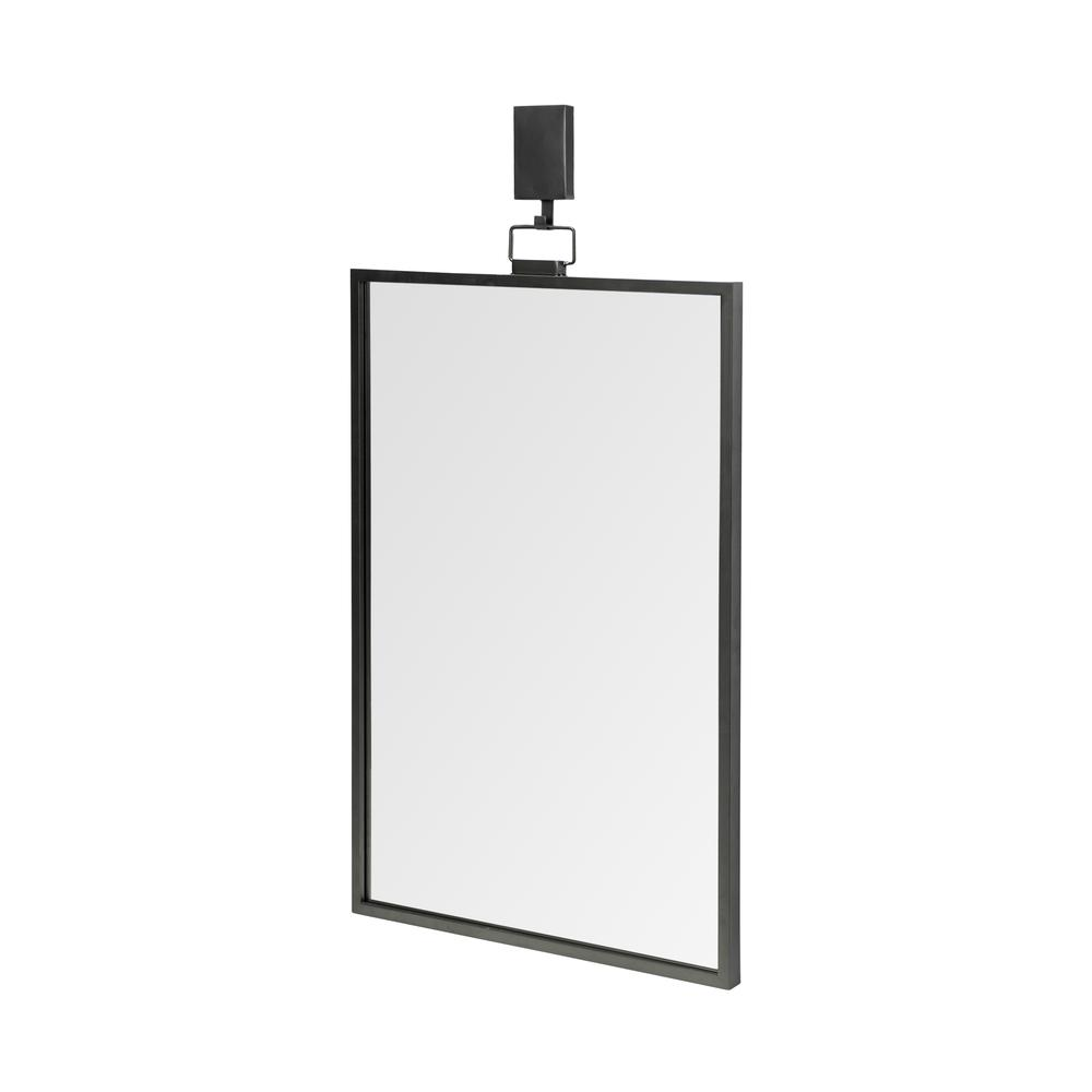 Rectangular Black Metal Frame Wall Mirror - 376410. Picture 1