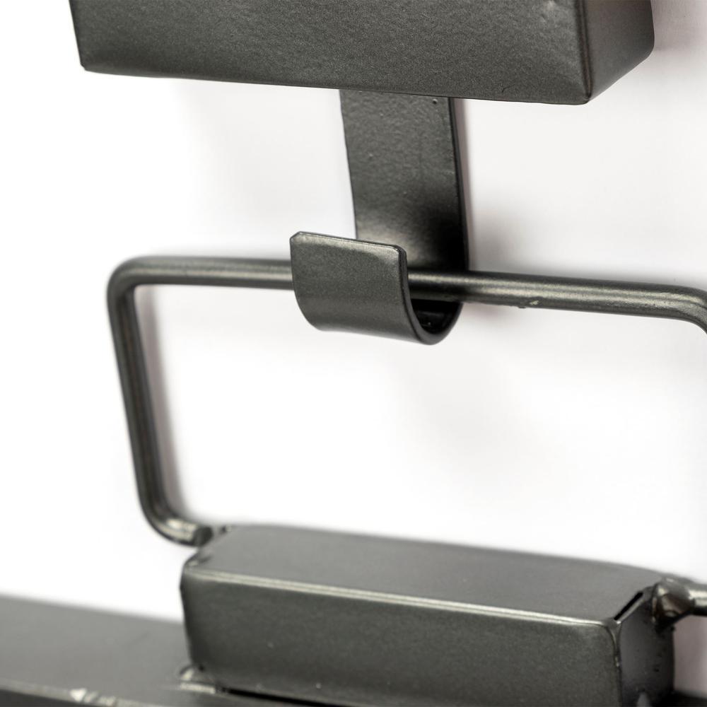 Rectangular Black Metal Frame Wall Mirror - 376410. Picture 3