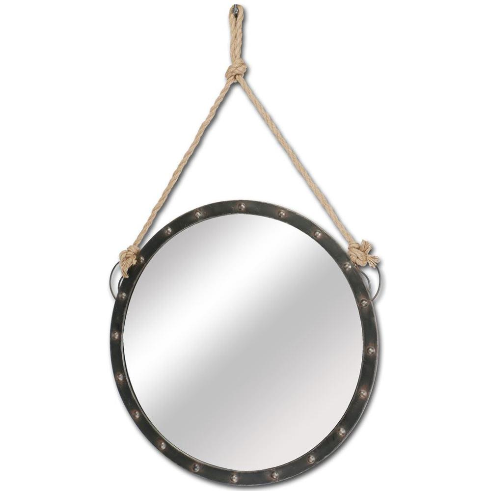 """27"""" Round Metal Frame Wall Mirror - 376444. Picture 1"""