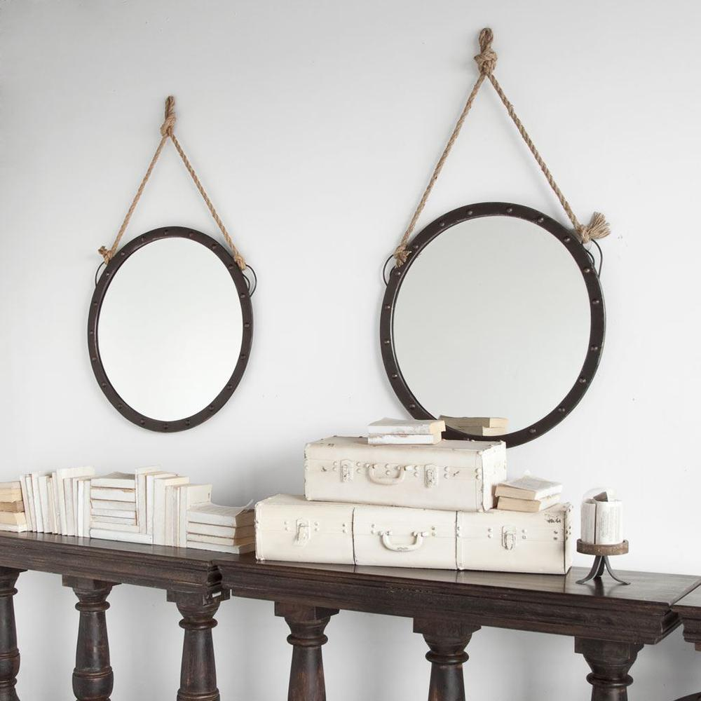 """27"""" Round Metal Frame Wall Mirror - 376444. Picture 2"""