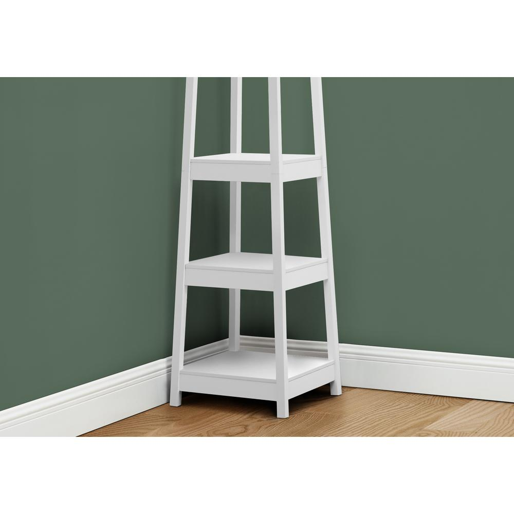 """72"""" White Corner Coat Rack with 3 Shelves - 376488. Picture 2"""