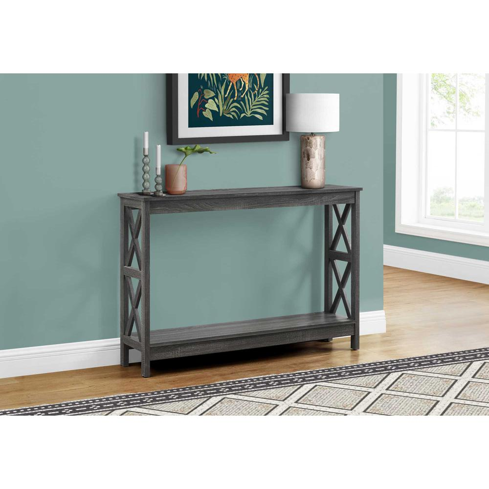 Rectangular Grey Hall Console Accent Table - 376496. Picture 3