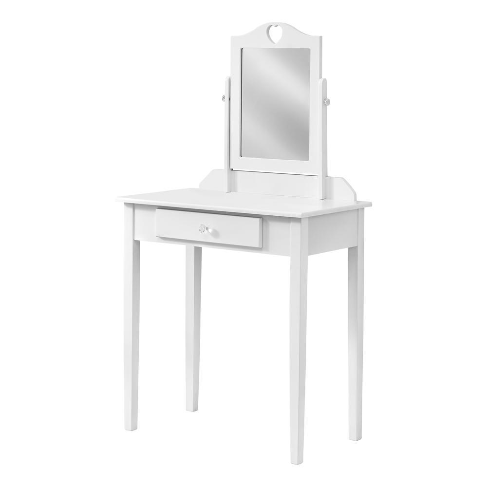 White Vanity Mirror and Storage Drawer - 376501. Picture 1