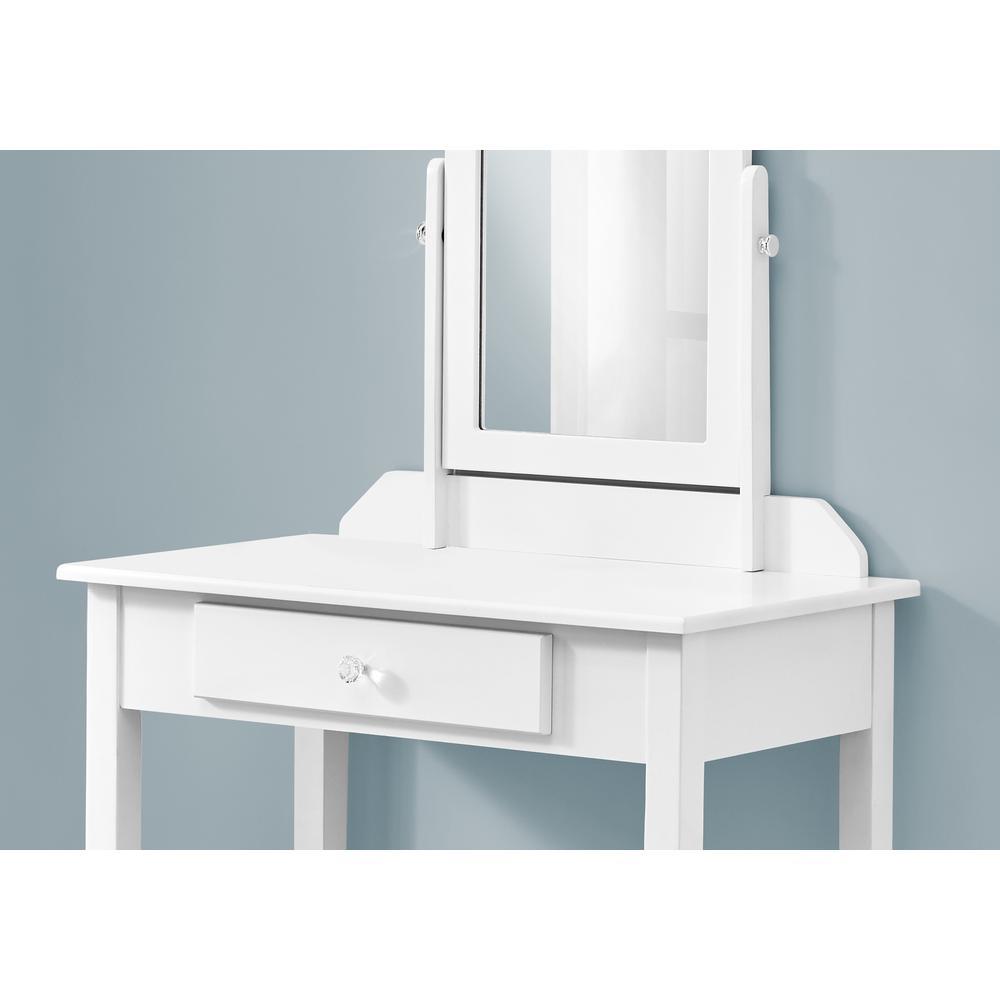 White Vanity Mirror and Storage Drawer - 376501. Picture 2