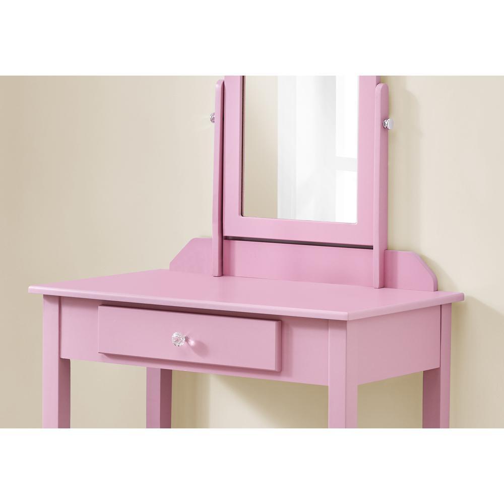 Pink Vanity Mirror and Storage Drawer - 376503. Picture 2