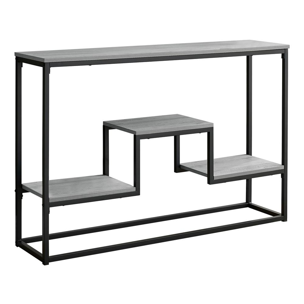 """48"""" Rectangular Grey Wash Finish Hall Console Accent Table - 376514. Picture 1"""