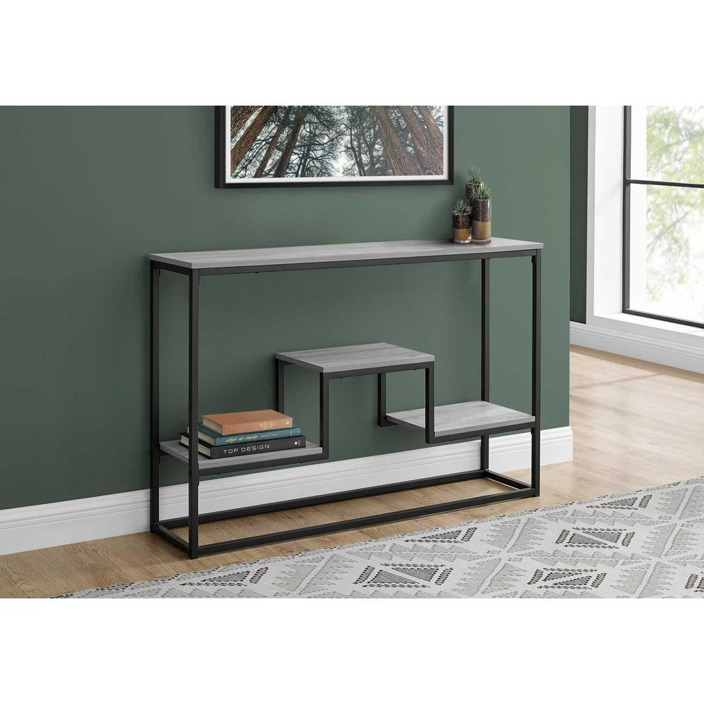 """48"""" Rectangular Grey Wash Finish Hall Console Accent Table - 376514. Picture 3"""