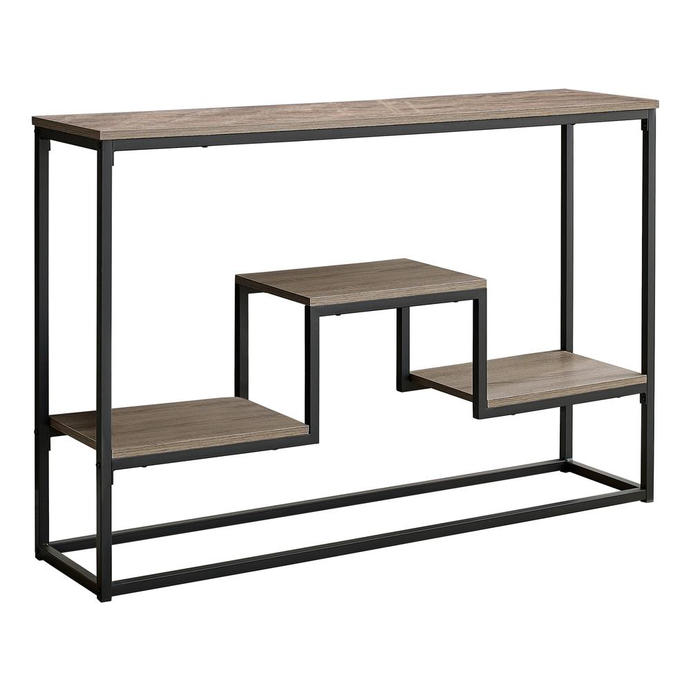 """48"""" Rectangular Taupe Wood Look Hall Console Accent Table - 376515. Picture 1"""
