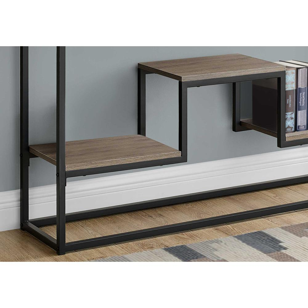 """48"""" Rectangular Taupe Wood Look Hall Console Accent Table - 376515. Picture 2"""