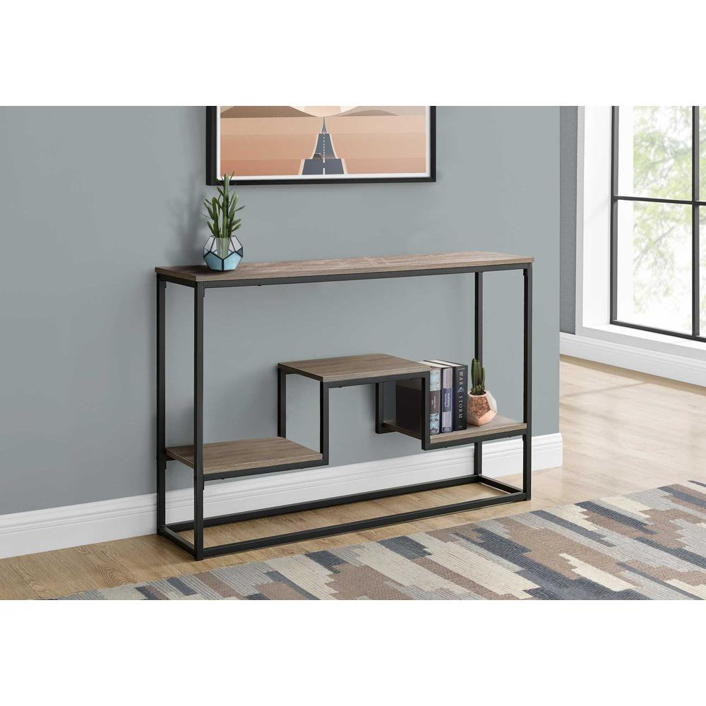 """48"""" Rectangular Taupe Wood Look Hall Console Accent Table - 376515. Picture 3"""