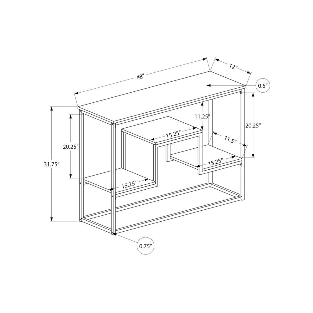 "48"" Rectangular Espresso Hall Console Accent Table - 376516. Picture 4"