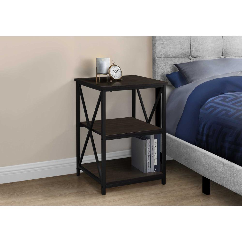"""26"""" Rectangular Espresso Black Metal Accent Table - 376523. Picture 2"""