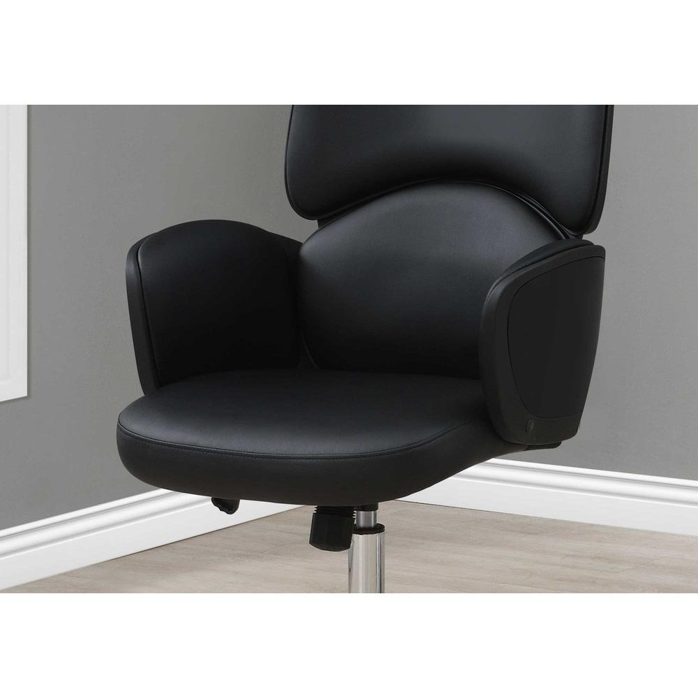 Black Leather Look High Back Executive Office Chair - 376546. Picture 2