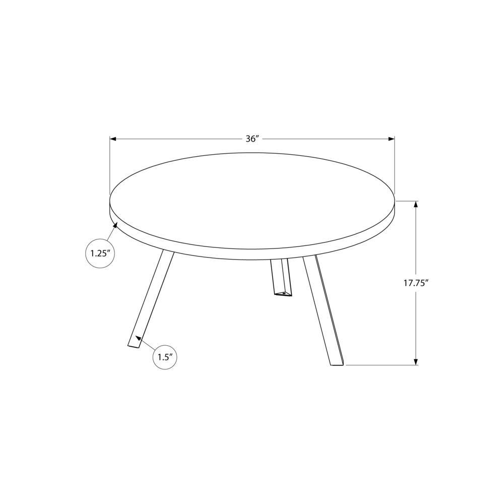 Round Golden Pine with Black Metal Coffee Table - 376551. Picture 4