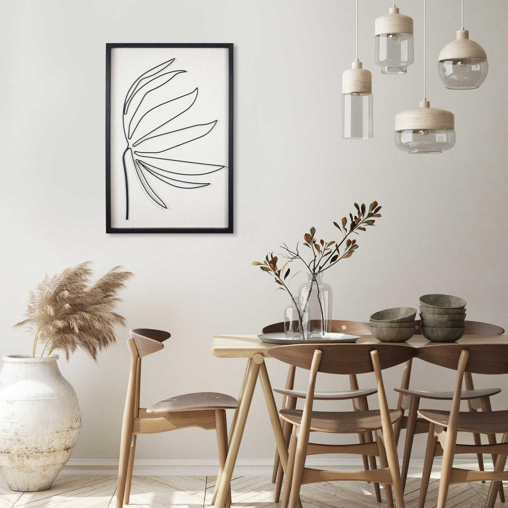 Leafy Stem Wall Art with Matthe Black Finish - 376566. Picture 2