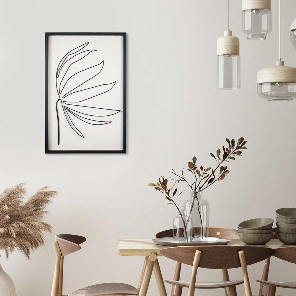 Leafy Stem Wall Art with Matthe Black Finish - 376566. Picture 6