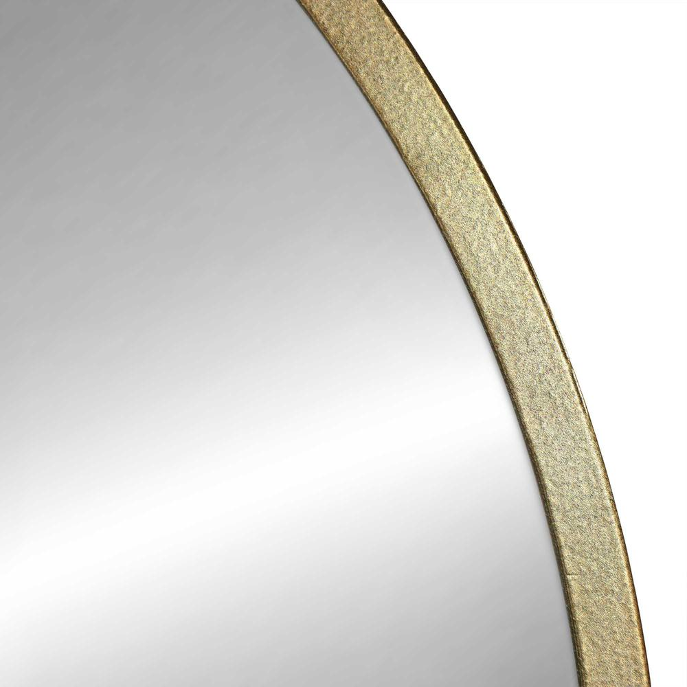 Round Wall Mirror with Matte Gold Finish - 376569. Picture 3