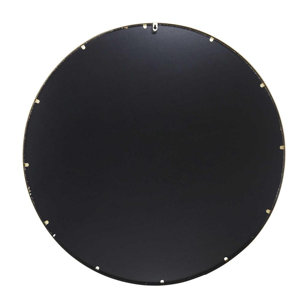 Round Wall Mirror with Matte Gold Finish - 376569. Picture 5