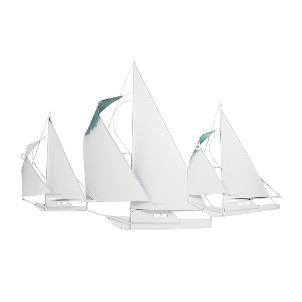 Sailboat Metal Centerpiece  in Distressed Finish - 376572. Picture 5