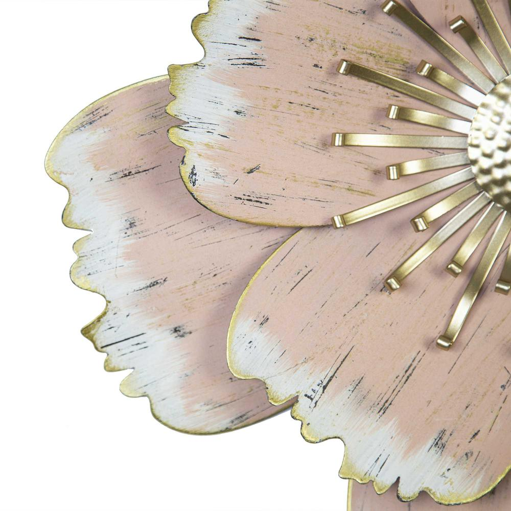Flower Metal Wall Decor with Matte-Finished Petals - 376577. Picture 3