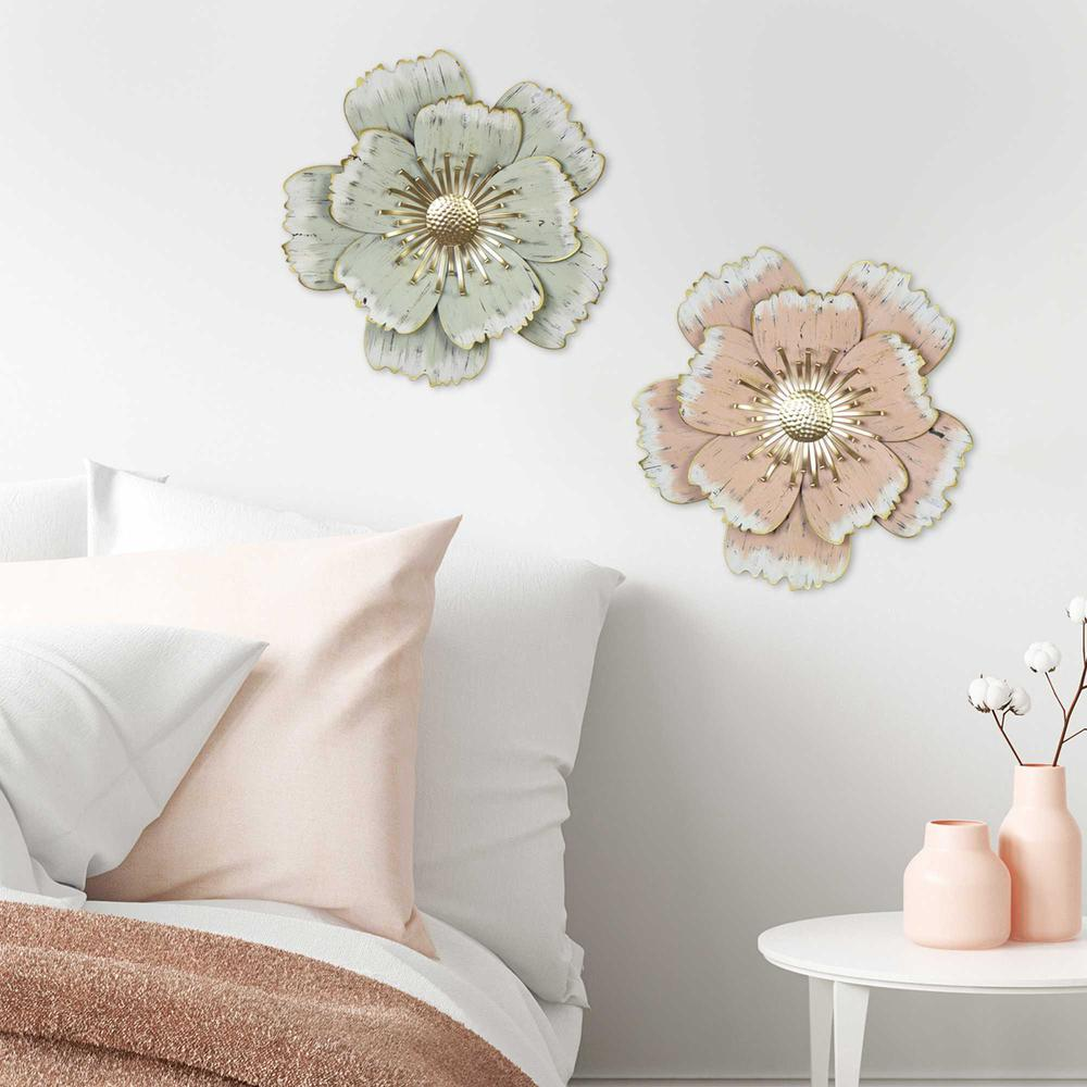Flower Metal Wall Decor with Matte-Finished Petals - 376577. Picture 6