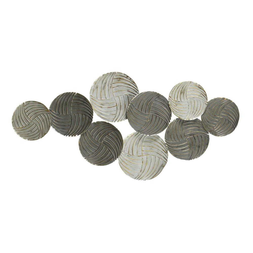 Metallic Plates Wall Centerpiece with Distressed Finish - 376582. Picture 1