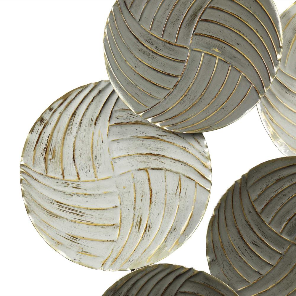 Metallic Plates Wall Centerpiece with Distressed Finish - 376582. Picture 3