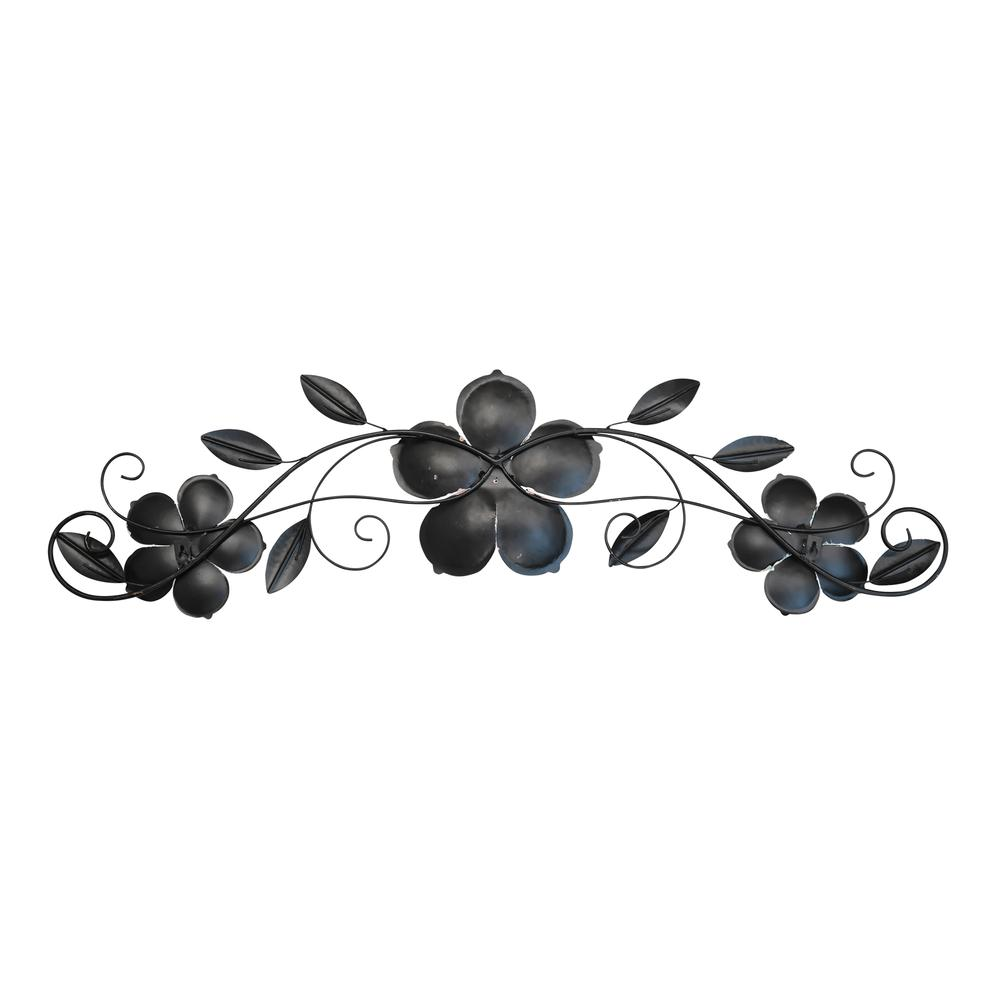 Flower Metal Wall Decor with Metallic Gold Edge Finish - 376588. Picture 5
