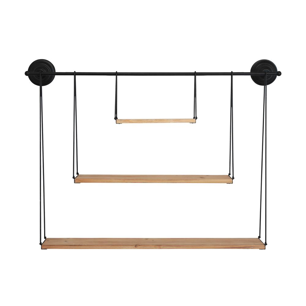 3 Tier Nested Black Metal and Wood Shelf - 376591. Picture 1