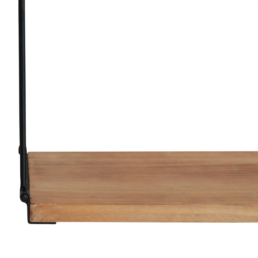 3 Tier Nested Black Metal and Wood Shelf - 376591. Picture 3