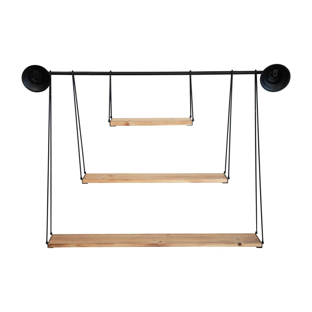 3 Tier Nested Black Metal and Wood Shelf - 376591. Picture 5