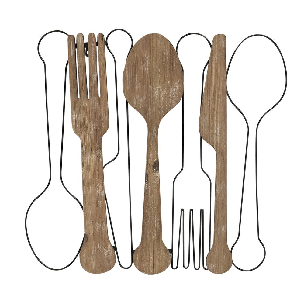Kitchen Utensils Wall Decor with Metal Outlines - 376594. Picture 1