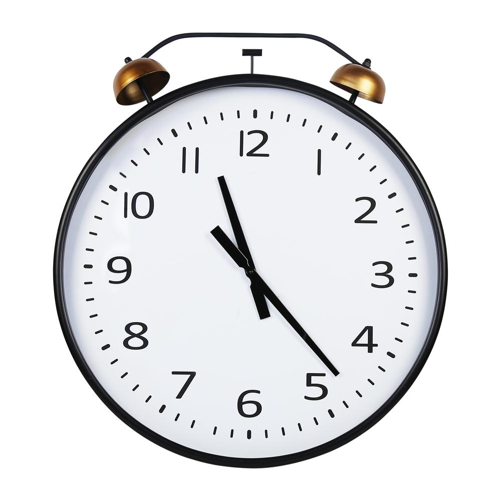 24 Inch Twin Bells Wall Clock - 376596. Picture 1