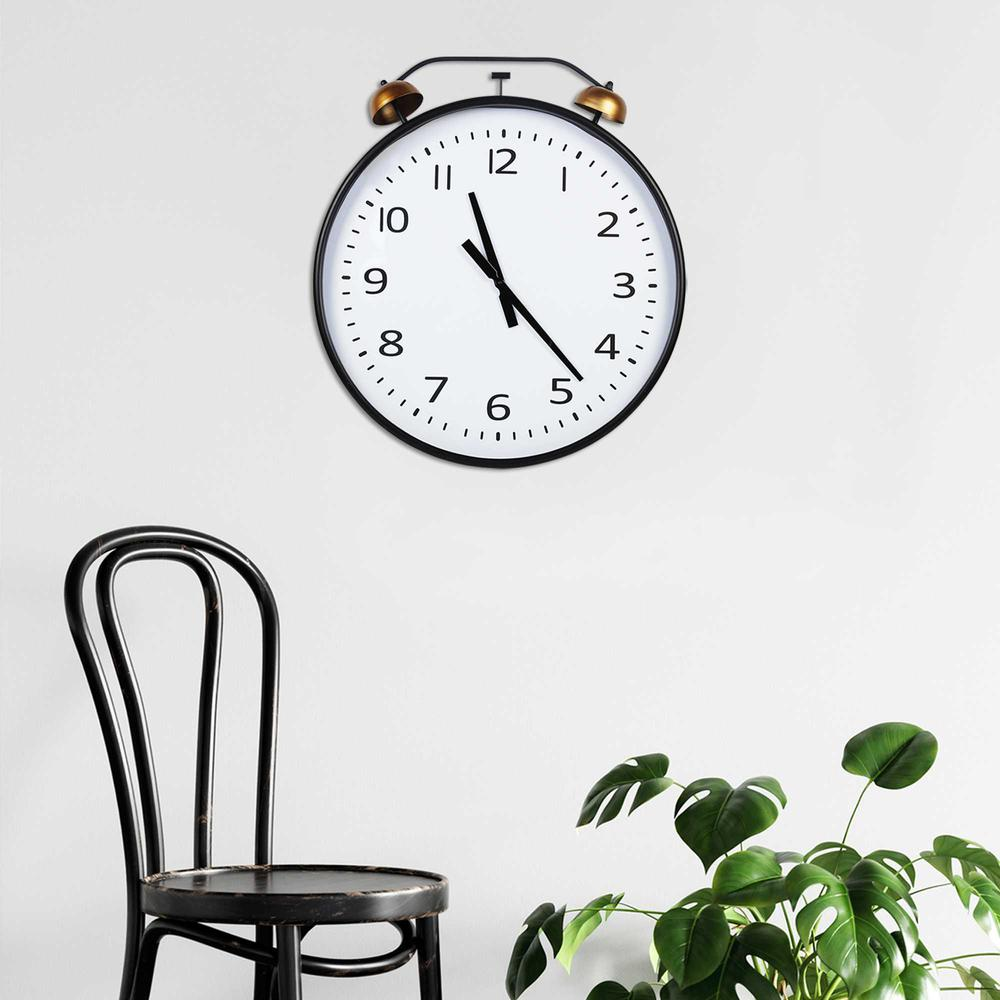 24 Inch Twin Bells Wall Clock - 376596. Picture 6